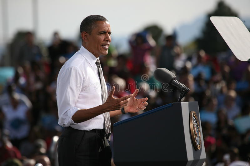 Presidential Candidate Barack Obama royalty free stock image