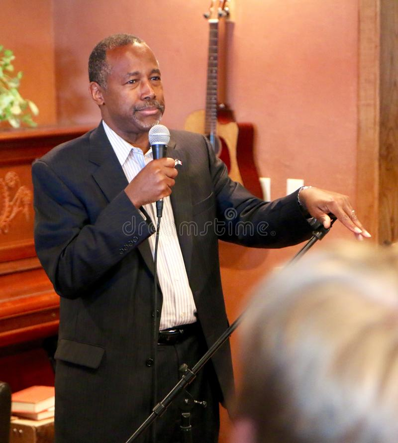 Presidential Candidate Ben Carson stock images