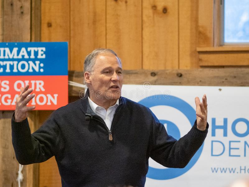 2020 Presidential Candidate Jay Inslee stock photo