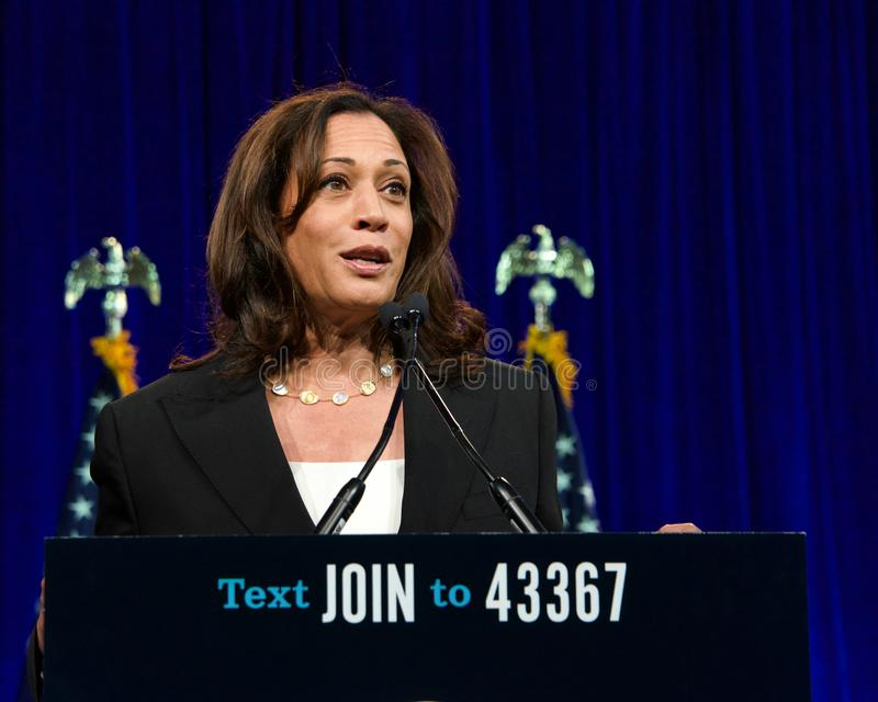 Presidential Candidate Kamala Harris at the DNC Summer meeting royalty free stock photos