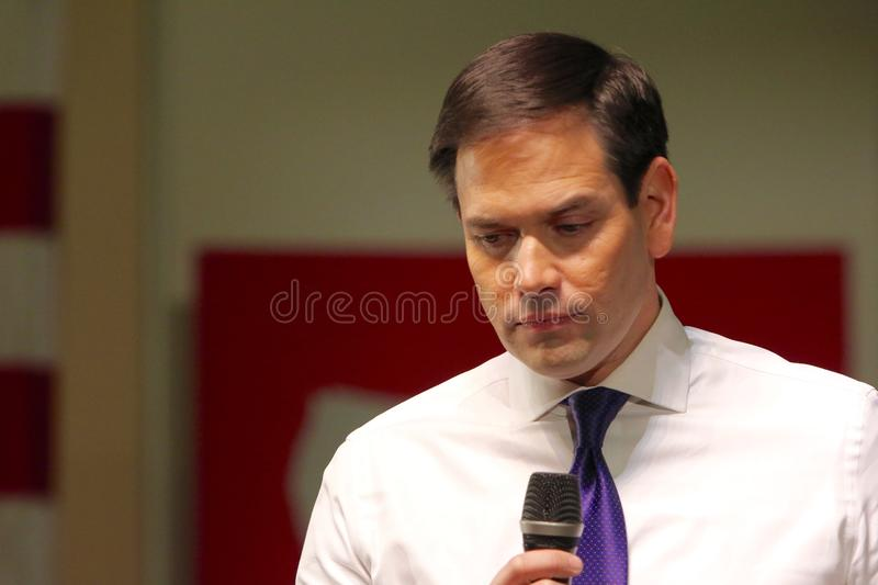 Presidential Candidate Senator Marco Rubio royalty free stock images