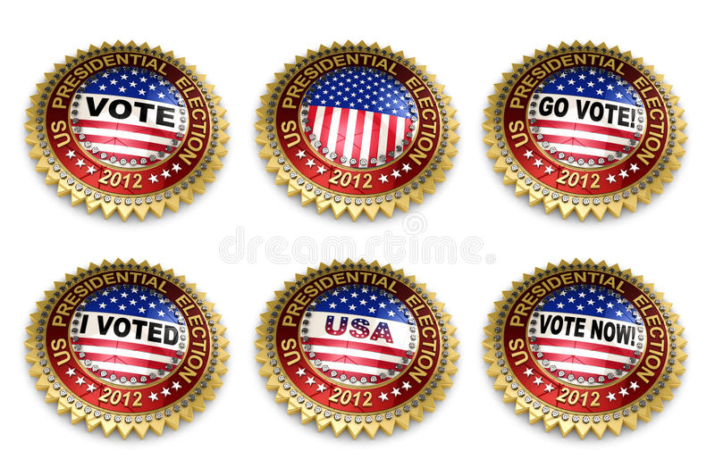 Download Presidential Election 2012 Buttons Stock Illustration - Illustration: 24219814