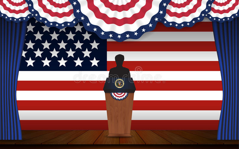 Presidential election banner background vector illustration