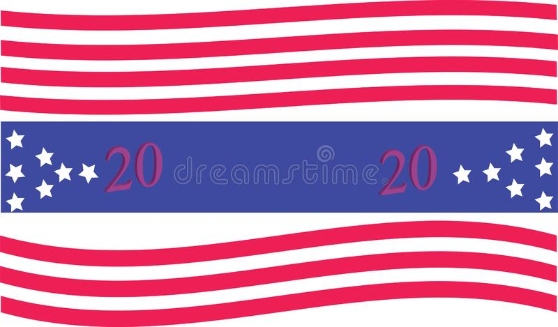 Presidential election a banner on a white background vector illustration