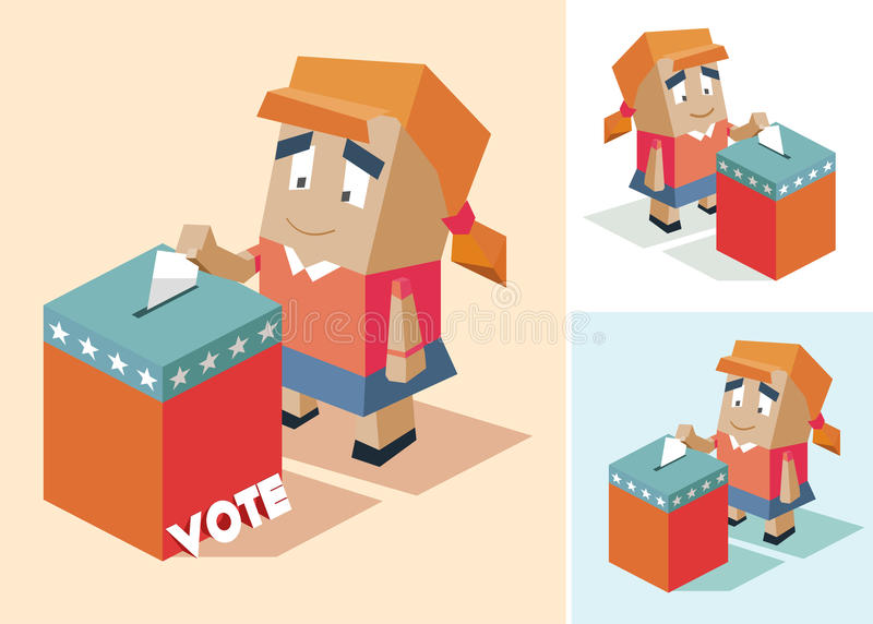 Presidential election day. Illustration stock illustration