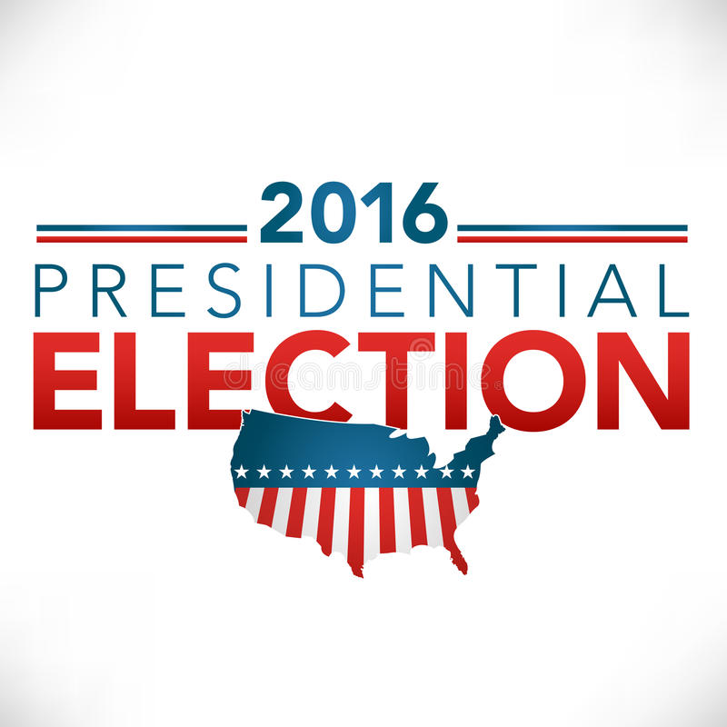 2016 Presidential Election Header Graphic. With USA, stars, and stripes vector illustration