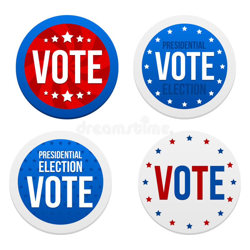 Download Presidential Election Stickers Stock Vector - Image: 26753421