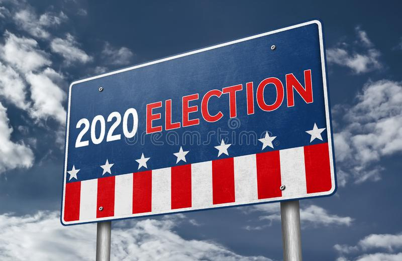 2020 Presidential Election in the United States. Of America royalty free stock photo