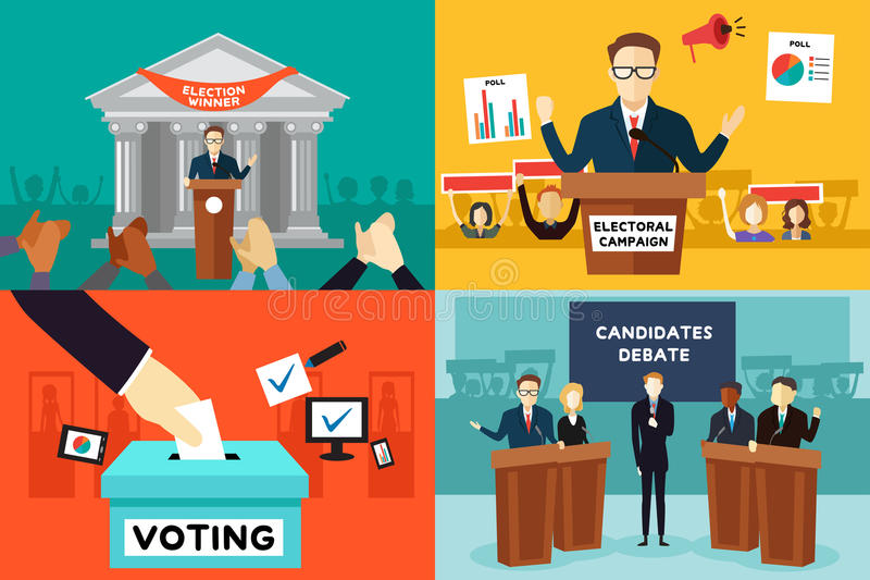 Presidential Election. A vector illustration of presidential election poster royalty free illustration