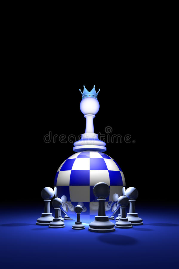 Presidential elections. The new ruler. (chess metaphor). 3D rend stock photography