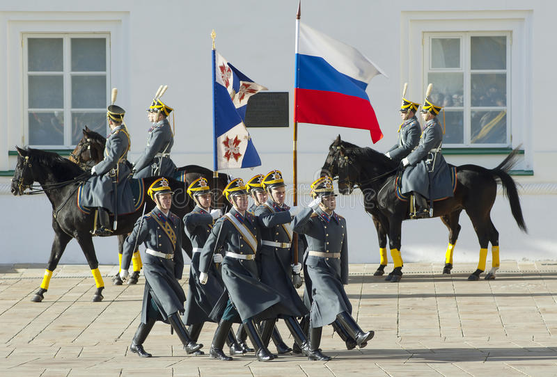 Download Presidential Guards With Flags Editorial Photography - Image: 27416737