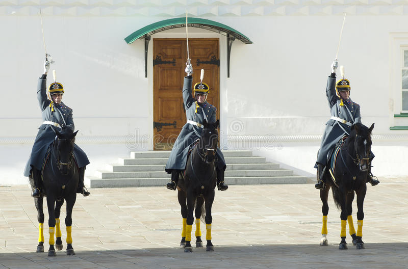 Presidential guards on a horses stock photo