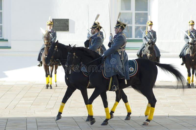 Presidential guards on a horses stock photos
