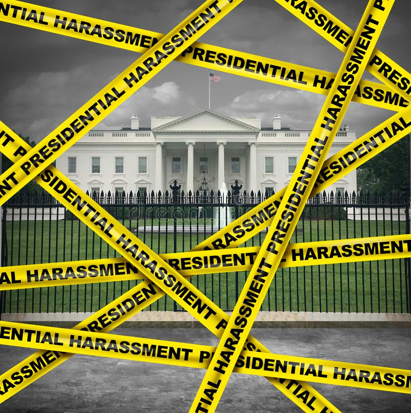 Presidential Harassment. United States political as house oversight by congress investigating collusion or obstruction by the government for possible vector illustration