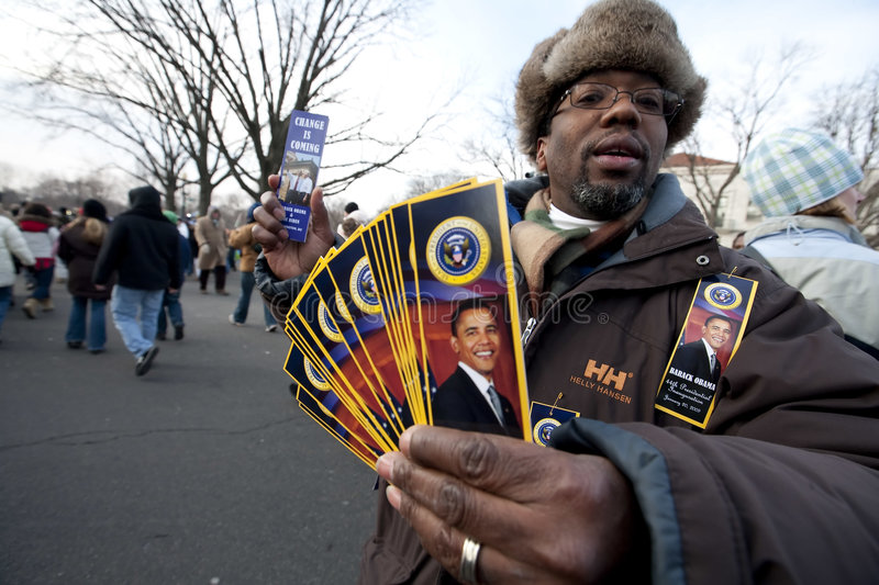 The Presidential Inauguration Of Barack Obama Editorial Stock Photo