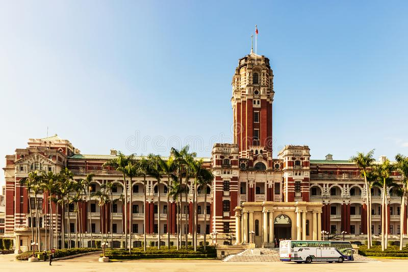 The presidential office building in Taipei, Taiwan. stock photo