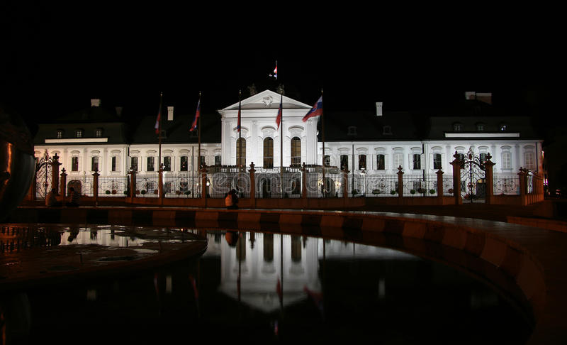 Presidential Palace (Grassalkovich Palace) Royalty Free Stock Photography