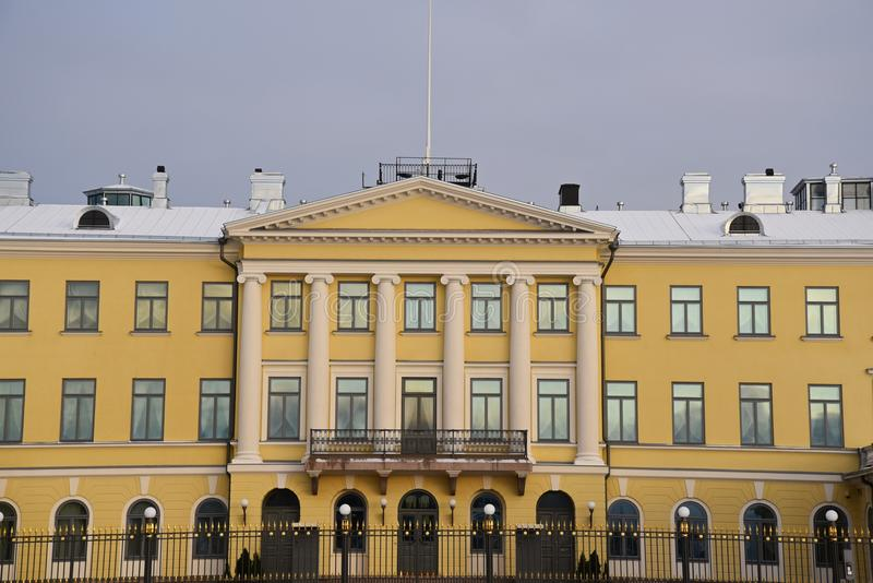 Presidential palace Helsinki stock photography