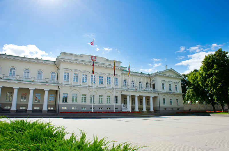 The Presidential Palace In Vilnius Royalty Free Stock Photos