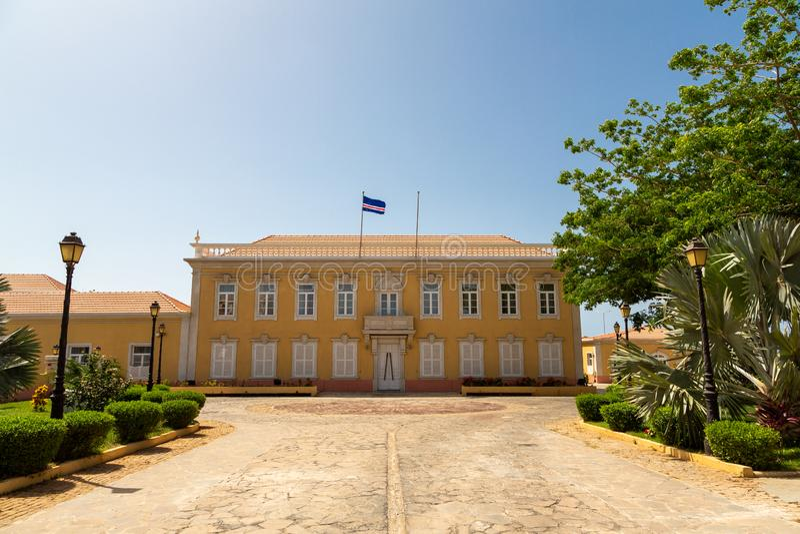 Presidentieel Paleis in Praia, Kaapverdië stock afbeeldingen