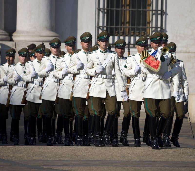 Presidentieel Paleis in Santiago - Chili stock foto