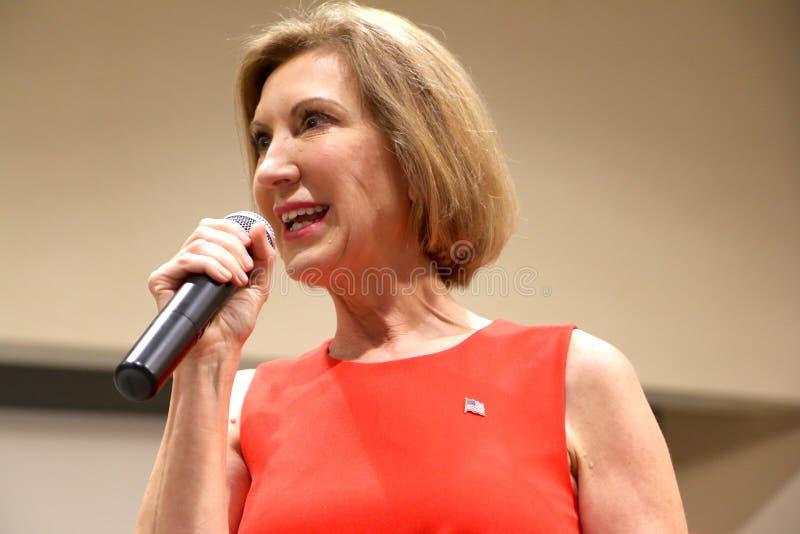 Presidentkandidat Carly Fiorina arkivfoton