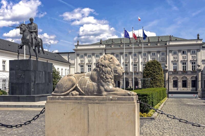Presidentpalatset Warszawa royaltyfria foton