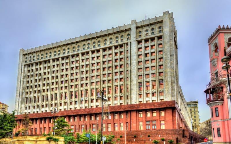 Presidents- administration i Baku, Azerbajdzjan arkivfoton