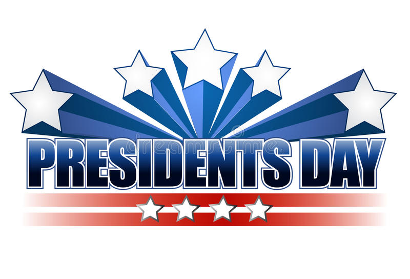 Presidents day. Sign isolated over a white background vector illustration
