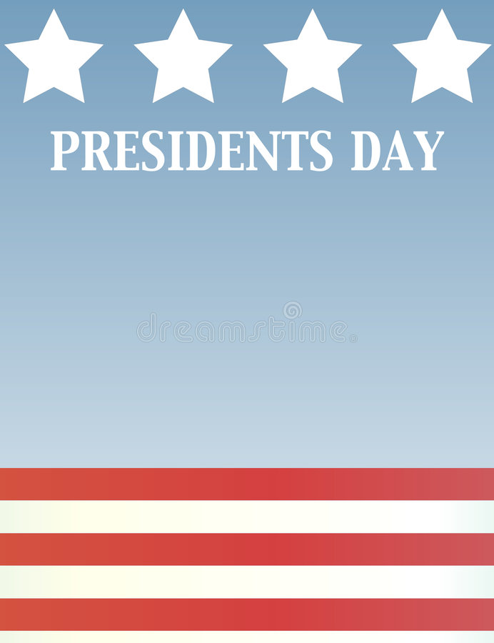 Presidents Day. A presidents themed background with American stars and stripes vector illustration