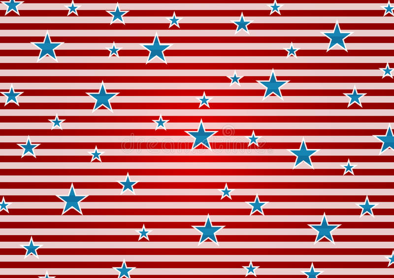 Presidents Day abstract USA flag colors background vector illustration