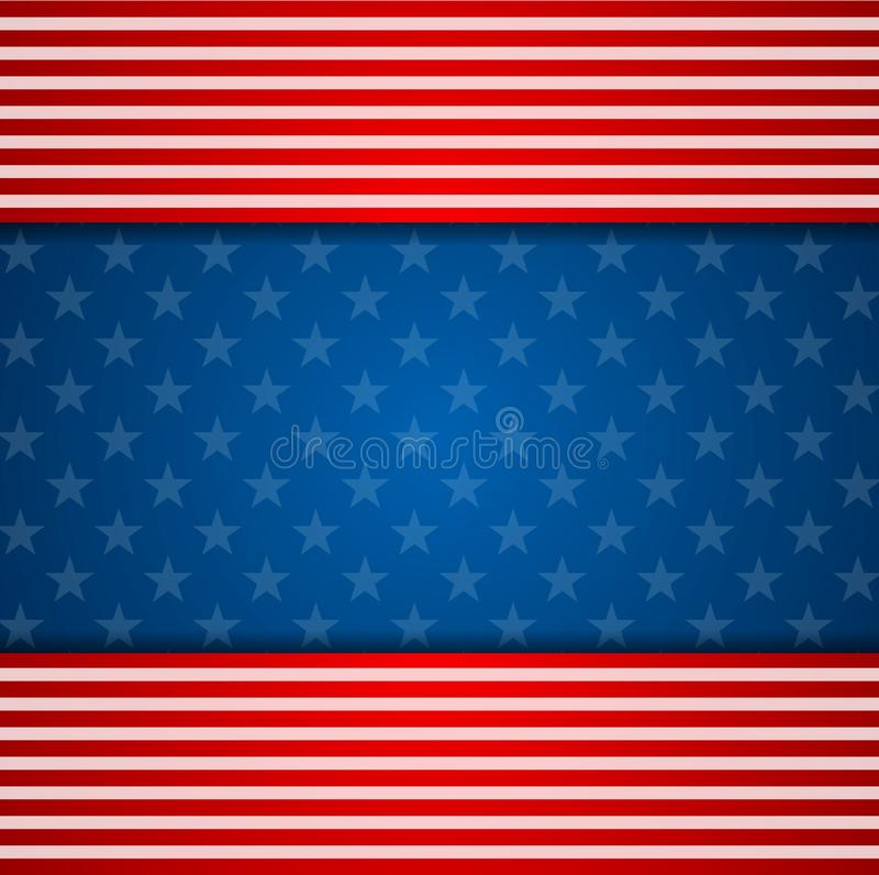 Presidents Day abstract USA flag colors background royalty free illustration