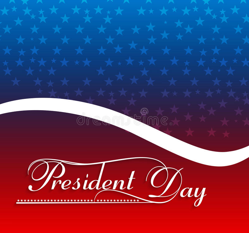 Presidents day American Flag background royalty free illustration