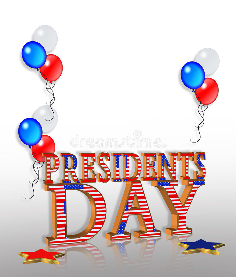 Presidents Day Background stock illustration
