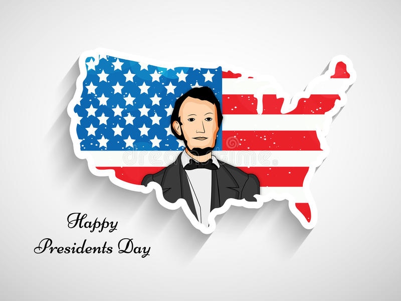 Presidents Day background. Illustration of American Flag for Presidents Day royalty free illustration