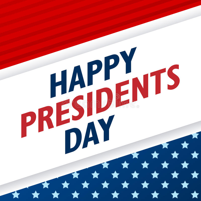 Presidents Day background. USA patriotic vector template with text, stripes and stars in colors of american flag. Presidents Day background. USA patriotic stock illustration