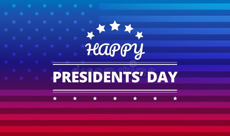 Presidents day background vector stock illustration