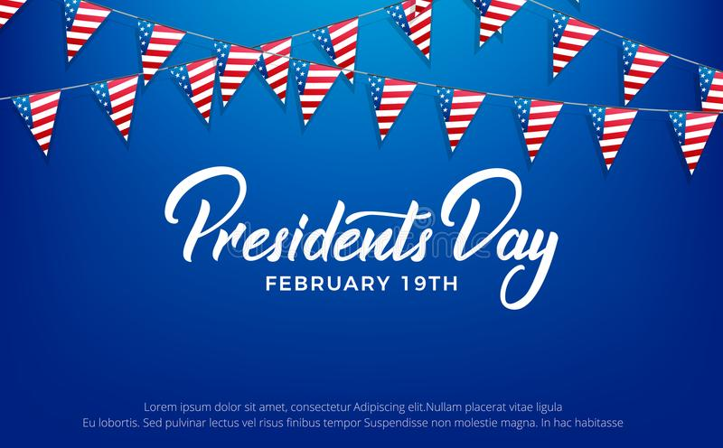 Presidents Day. Banner for USA Presidents Day Holiday.  vector illustration
