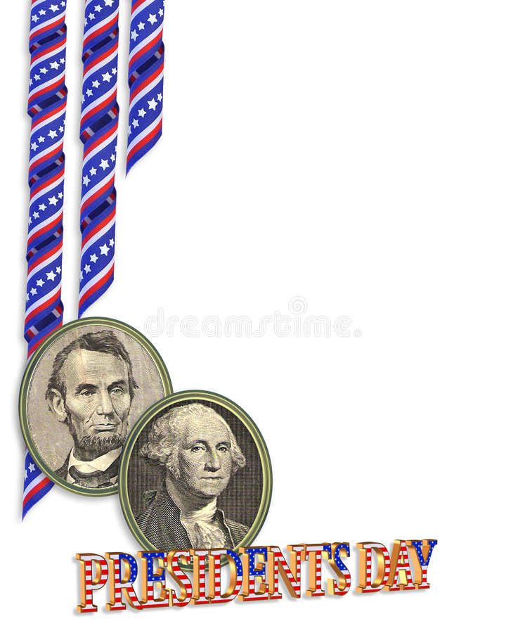 Presidents Day Border graphic stock illustration