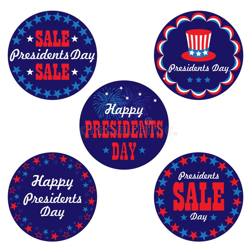 Presidents day graphic vector icons stock illustration