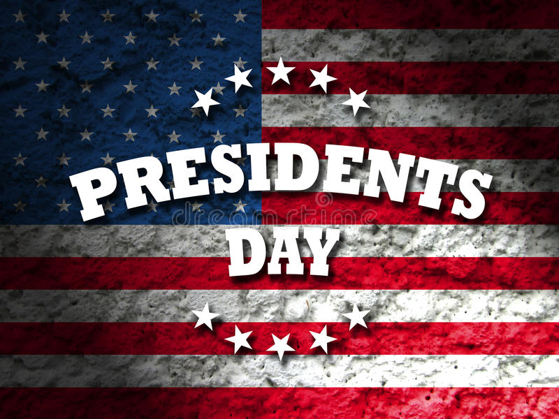 Presidents day. Greeting card american flag grunge background royalty free illustration