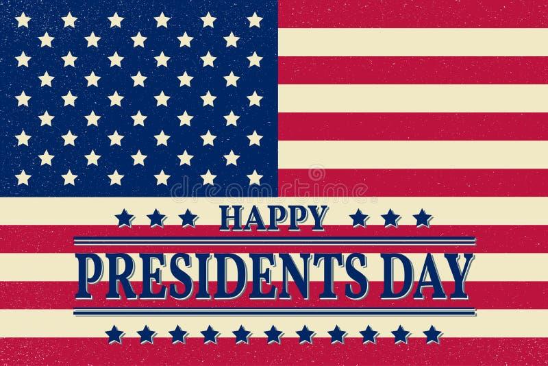 Presidents Day. Presidents Day Vector. Presidents Day Drawing. P. Residents Day Image. Presidents Day Graphic. Presidents Day Art. President's Day. American Flag stock illustration
