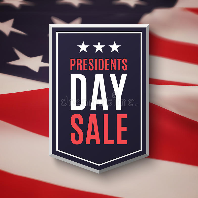 Presidents day sale background. Banner on top of American flag. Vector illustration vector illustration