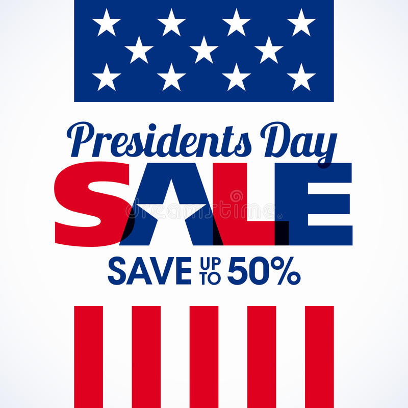 Presidents Day sale banner. Illustration stock illustration