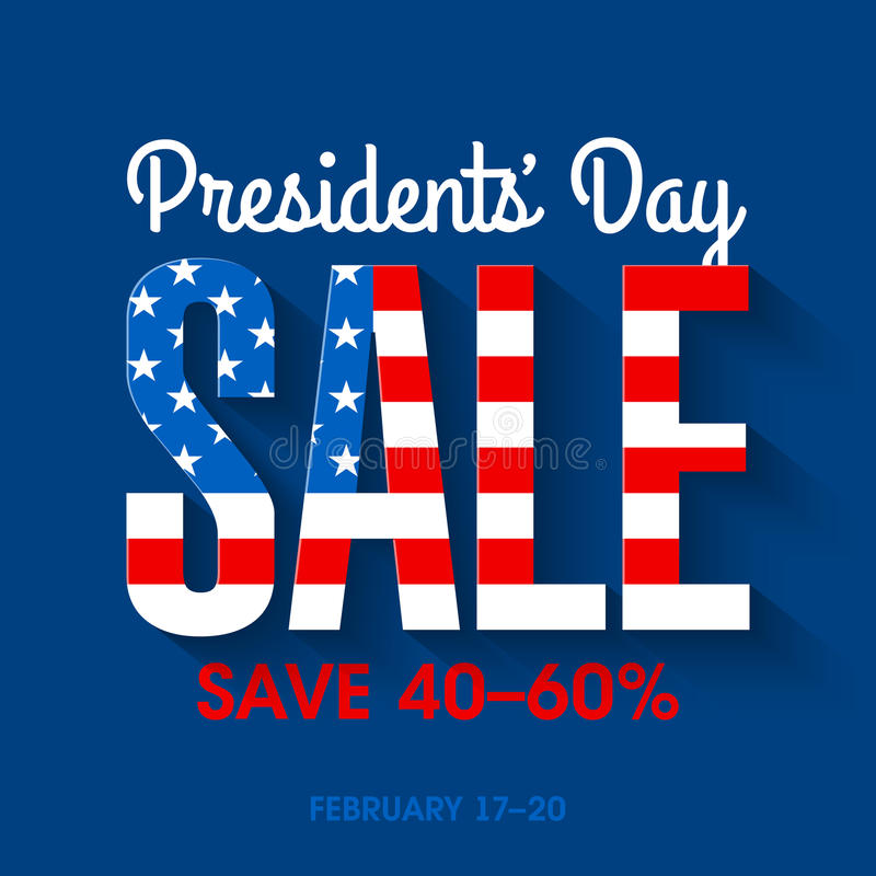 Presidents Day sale banner. Illustration vector illustration