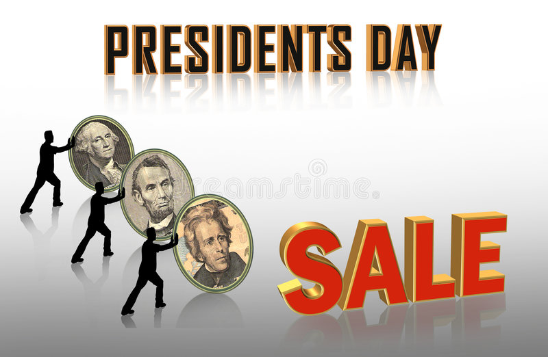 Presidents Day Sale graphics royalty free illustration