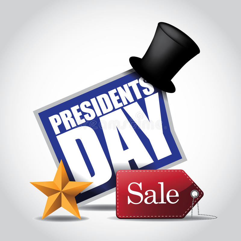 Presidents Day Sale Icon. EPS 10 vector stock illustration stock illustration
