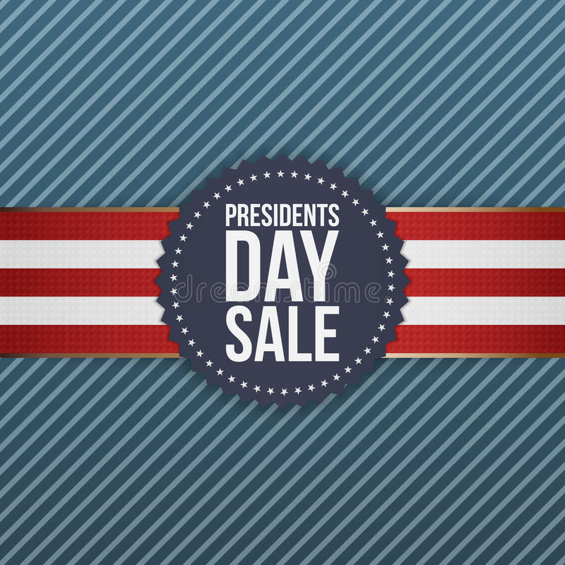 Extended Presidents Day: Presidents Day Sale Realistic Blue USA Emblem Stock Vector