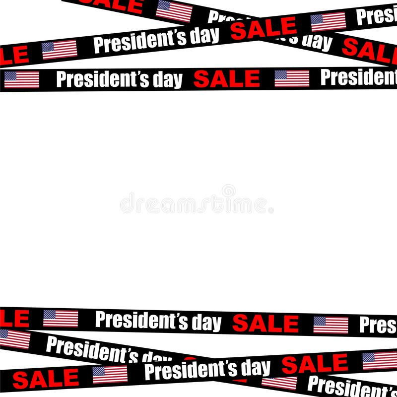 presidents day sale stripes on empty background vector illustration