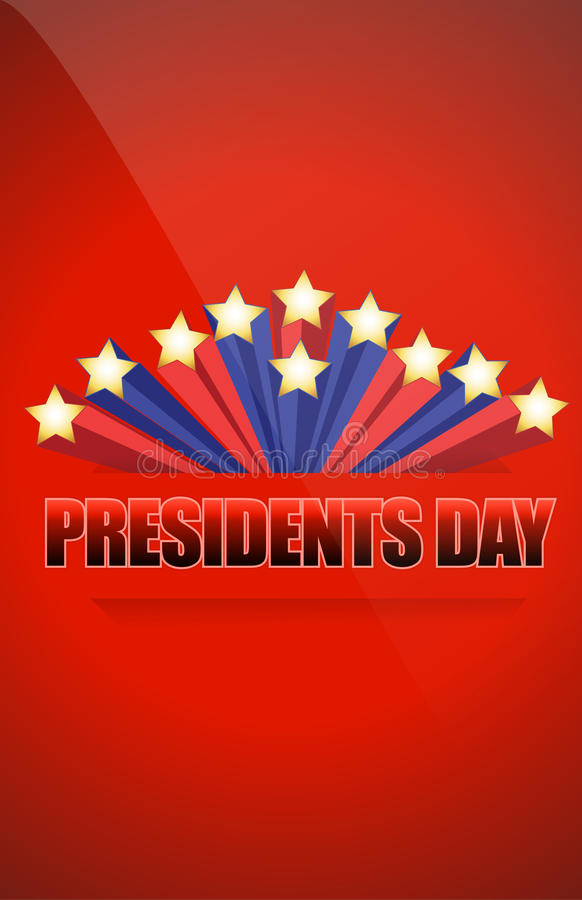 Presidents day sign. Illustration design over a blue background stock illustration